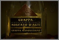 Grappa di Moscato d'Asti (107) (PHH Sykes) Tags: bottle candle cork alcohol di grappa moscato dasti monovitigno