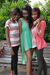 Pretty in pink ....  and green ... and stripes! (Ibrahim D Photography) Tags: pretty african africangirls forburygardens africanwomen