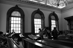 Doors Open Toronto 2012- 8168 bw (sniderscion) Tags: old school bw white toronto ontario canada black building architecture court scott hall nikon doors open angle interior wide sigma canadian historic law ornate 1020mm snider osgoode courtroom 1456 flickrgolfclub sniderscion d7000 clanflicker