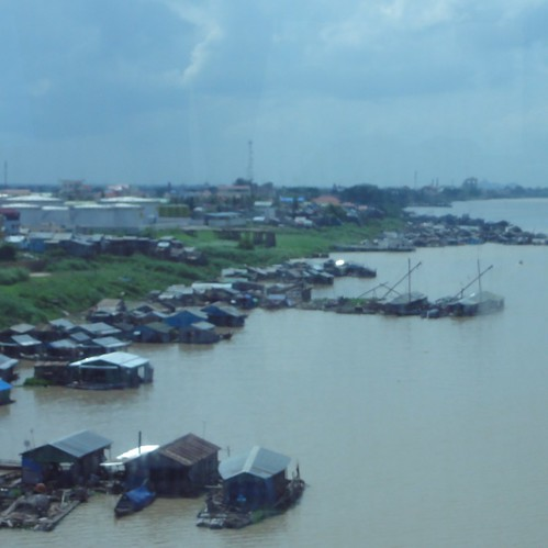 House boats on the Tonle Sap