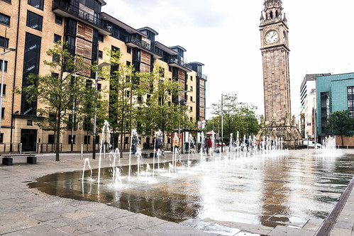 The Albert Memorial Clock is a tall clock tower situated at Queen's Square in Belfast