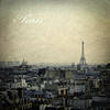 Rooftops (Violet Kashi) Tags: city roof paris france tower texture vintage evening spring eiffel centrepompidou