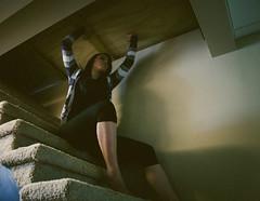 156/366 Can't Escape (JennaTaryn) Tags: selfportrait coffee drywall carpet escape lock board basement creative bowl 365 reno remodel portaits locked cupboards dishware reneovation