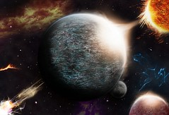 Space is rad (photoshop composite) (Brandon Proulx) Tags: life startrek sun moon colors composite contrast photoshop photography starwars amazing cool bright space explosion surreal atmosphere galaxy fantasy nebula planets universe solarsystem