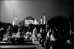 Istanbul, 21h17 (Zillicons) Tags: street leica city travel windows light people urban blackandwhite bw motion blur blancoynegro monument beautiful silhouette kids night composition contrast turkey blackwhite jump shadows shot angle noiretblanc candid thecity streetphotography atmosphere streetscene scene istanbul palace tourists nb pointofview turquie vision nightview fascination moment charming capture tresor minox istambul argentique cityviews decisive noirblanc urbain nostalgy streetshot blanconegro ayasofya ayasofia piazzaspagna outoftime melancoly travelphotography argentic cinetic istamboul zillicons