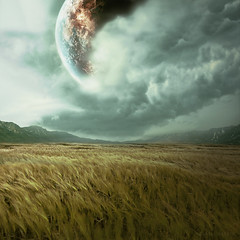 Another Time, Another Place (Subversive Photography) Tags: mountains clouds mood digitalart surreal atmosphere planet scifi fields concept imagemanipulation urbex danielbarter