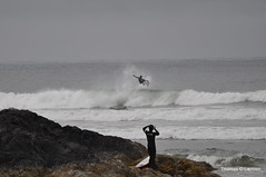 Cold water surfing (laehren) Tags: beach long surf tofino coldwatersurfing