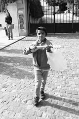 Petit (to-koumpi) Tags: street sky people urban blackandwhite music children blackwhite kid child athens greece