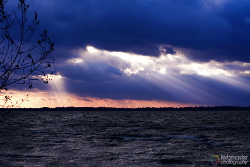 Schweriner See Sonnenuntergang