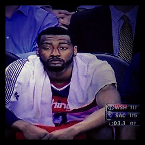 Last night's sad, haggard & tattered John Wall. #NBAsadfaces #Wizards