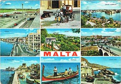 Malta (Postcard Farm) Tags: old travel holiday saint st paul bay harbor airport post mail harbour farm postcard nine ghar snail grand pauls malta historic ephemera collection card collectible maltese sliema dghajsa lapsi floriana karozzin multiview busket