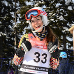 Laura SWAFFIELD of WMSC/Canada takes 15th Place in the U16 Girls Slalom Race held on Whistler Mountain on April 6th, 2014. Photo by Heather McConnell - coastphoto.com - coastphoto.com