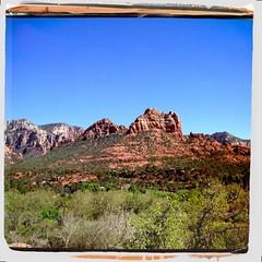 Sedona (K e v i n) Tags: trees arizona nature outside outdoors sedona az redrock hipstamatic akiralens kodamafilm