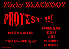 Flickr BLACKOUT! PROTEST! FROM 19 TO 27 APRIL 2014! PROTEST AGAINST BETA LAYOUT!!! (AnderTXargazkiak) Tags: from against layout flickr protest beta april to blackout 27 19 2014 rubyawardsinvitation
