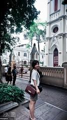 (Paula.HK) Tags: guangzhou city travel vacation portrait people urban woman cute film girl beautiful smile fashion self vintage outfit nikon pretty sony 16mm f28    18200mm   vsco shameen