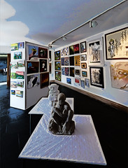 The Gallery (Steve Taylor (Photography)) Tags: uk greatbritain light england sculpture art lamp statue wall painting table gallery graphic unitedkingdom picture carving gb quilted bexley hallplace