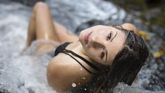 Kristin (Marvin Chandra) Tags: portrait pool 50mm hawaii waterfall model stream oahu bikini d600 nuuanu kristincampbell marvinchandra