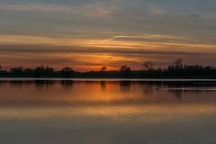 late flight (stevefge (away travelling)) Tags: sunset red sky water netherlands evening sundown nederland weurt grindgat reflectyourworld