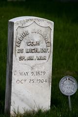 Spanish- American War Veteran (Jules (Instagram = @photo_vamp)) Tags: cemetery graveyard tombstone graves veteran spanishamericanwar ridgeroadcemetery