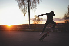 The Skateboard (almabernhardsson) Tags: boy sunset summer urban art 35mm canon eos town spring sweden 7d skateboard sigm