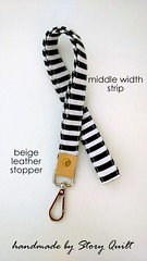middle width black and white stripes leather landyard (STORY QUILT) Tags: blackandwhite leather key stripes chain holder keyholder lanyard idholder