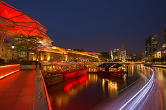 Clarke Quay, Singapore (gintks) Tags: seascape landscapes marine singapore vibrant central colourful singapur riverview exploresingapore boattrails gintay singaporetourismboard yoursingapore gintaygintks
