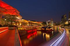 Clarke Quay, Singapore (gintks) Tags: seascape landscapes marine singapore vibrant central colourful singapur riverview exploresingapore boattrails gintay singaporetourismboard yoursingapore gintaygintks