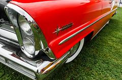 Long, low, lovely (GmanViz) Tags: color detail car nikon automobile headlights bumper fender chrome badge lincoln 1957 premiere flank gmanviz d7000
