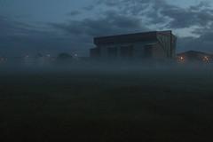 Pittodrie in Haar 1 (Glesgaloon) Tags: mist beach fog scotland football foggy aberdeen afc haar pittodrie aberdeenbeach