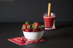Strawberries _IGP2107cc_wat (shammuramat (on/off sorry, be bk soon)) Tags: morning red white home cooking cup kitchen glass fruits fruit dessert healthy strawberry strawberries fresh sugar delicious homemade sweets dots goodmorning smoothie healthfood foodgasm foodlove cucinaitaliana