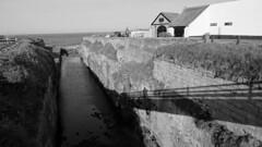 The Cut, Seaton Sluice, Northumberland, England, UK, 5/2016 (SteveT0191) Tags: uk england bw flickr northumberland seatonsluice geolocated