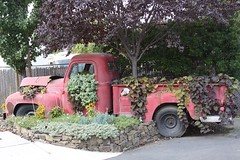 Vintage Truck Planter (irecyclart) Tags: vintage pots planter
