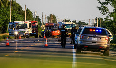 Fatal Collision in Welland (Shane Murphy - Photojournalist) Tags: accident mvc mva collision crash trapped vsa fatal fatality serious damage welland ontario fire canada extricatioin entrapment motor vehicle auto umfall