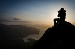 At the Top (Northaway Photography) Tags: sunset mountain lake mountains silhouette landscape scotland highlands photographer outdoor loch trossachs