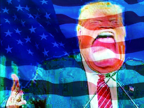 Trump: eating the flag