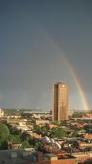 Pendant la pluie (sgauthier) Tags: maisonderadiocanada cbc arcenciel rainbow storm montreal pluie