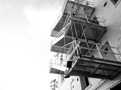Venice Beach Silhouettes (johnmartin25) Tags: venicebeachhotel fireescape stairway