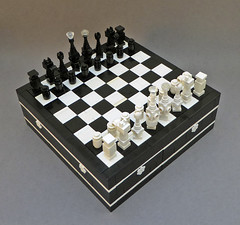 Ebony & ivory chess set (Magma guy) Tags: life light white black set dark death lego chess ivory happiness void ebony whities niggas