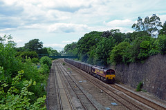 66060 6e83 hotchley hill to gasgoine wood empty gypsums at barrow on soar (I.Wright Photography over 2 million views thanks) Tags: wood empty hill barrow soar 66060 gasgoine 66xxx hotchley 6e83 gypsums