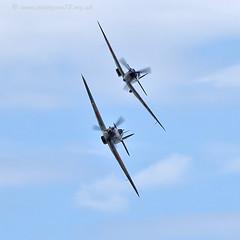 9819 BBMF (photozone72) Tags: canon aviation hurricane spitfire raf cleethorpes airshows armedforcesday bbmf p7350 lf363 canon100400mmf4556l rafbbmf 7dmk2 canon7dmk2
