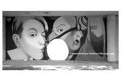 7005bw (Massimiliano Fattizzo p.) Tags: street blackandwhite italy streetart milan colors graffiti colours milano colori