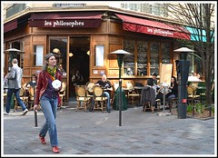 Printemps  Paris ... (photosylvia / silabox...on/off) Tags: street calle rues printemps cafs parisvi terrassesdecaf