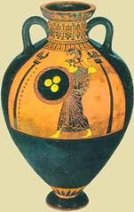 Athéna (athenaceramique) Tags: terre serpent inscriptions coqs rond casque chiton colonnes bouclier cuite ornements égide athéna cimier himation panathénaïques triskélè panathénées