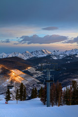 Sunrise on the Mountain (Zach Dischner) Tags: winter usa mountain snow ski mountains cold nature sunrise canon eos chair colorado lift natural snowy games vail gore 7d gondola peaks range teva wintery tamron1750 canon7d