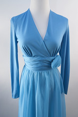 Vintage 60's aqua blue long evening dress (Sweet Vintage Lady) Tags: etsy eveningdress promdress vintagedress 60sdress cocktailpartydress floorlengthdress aquabluedress sweetvintagelady