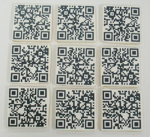 [Image from Flickr]:QR Code  Logo Cookies