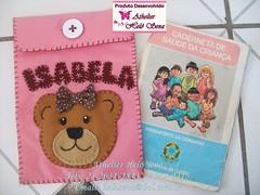 CAPA DE CADERNETA DE VACINA URSA MARROM E ROSA (cantinho-helo) Tags: de capa rosa e ursa marrom camisetas vacina caderneta customisadas