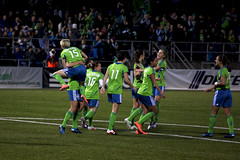 Sounders Women Goal Celebration