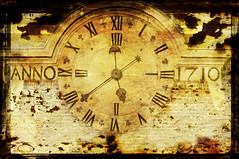 time goes by... (akal_flickr) Tags: b texture clock look vintage time uba bourtime