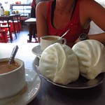 "Steamed Pork Buns and Milk Tea! <a style=""margin-left:10px; font-size:0.8em;"" href=""http://www.flickr.com/photos/14315427@N00/7076335493/"" target=""_blank"">@flickr</a>"